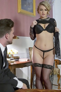 Jemma Valentine Fucks In Stockings